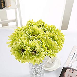 1 Bundles Faux Flowers Plastic Flowers Silk Flowers for Outdoor Flowers Fake Flowers Green Shrubs Garden Porch