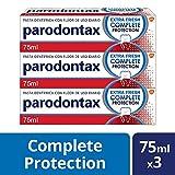 Parodontax Complete Protection - Extra Fresh - Pasta de Dientes con Flúor – Ayuda a detener y prevenir el sangrado de encías - pack de 3 x 75 ml