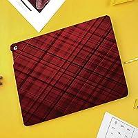 iPad Air 10.5 ケース/iPad Pro 10.5 ケース 薄型 オートスリープ機能 三つ折りスタンドスコットランドのキルトデザインパターンストライプラインスクエアオンブルイメージ