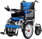 MQJ Silla de Ruedas Eléctrica Plegable para Discapacitados para Discapacitados para Discapacitados, Todo Terreno de Servicio Pesado Potente Potente Motor Doble Plegable para Sillas de Ruedas Motoriza