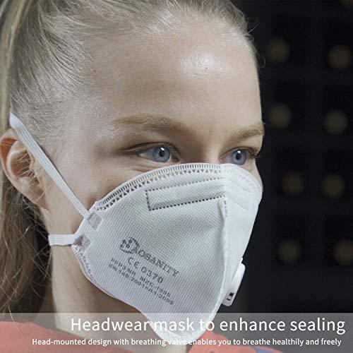 10X FFP3 Maske CE Zertifiziert Schutzmaske Mundmaske, 6-Lagen-Atemschutzmaske, Staub-Atemschutzmasken Faltbare Staubschutzmasken Mund-Nase Gesichtsschutz Norm EN149:2001+A1:2009 mit Ventil 10Stück - 5