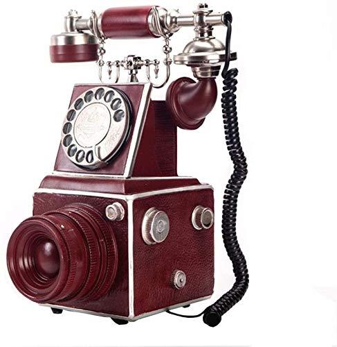 ZHAOH Línea Fija Retro Retro- Telefon, Platten Drehwahl Antiken Telefon Festnetztellefon Für Büro, Haus, Luxus Haus Teléfono Decorativo