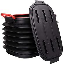 40L Car Folding Bucket, Large Portable Water Storage Bucket, Multi-Function Outdoor Fishing Bucket Storage Box, Black