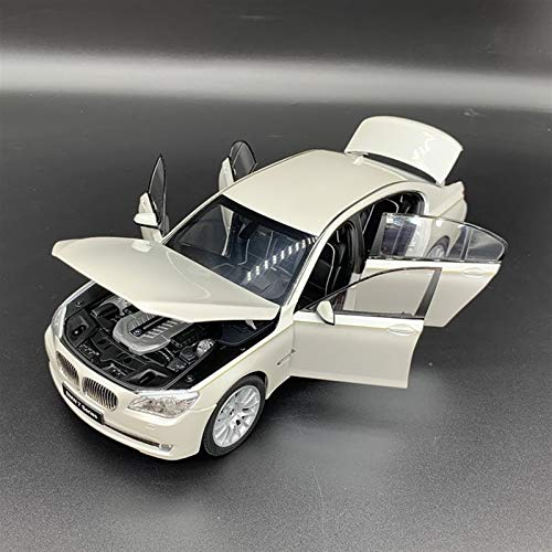 Auto Modelo 1:18 para B-M-W 760LI Simulación De Aleación Simulación Estado Modelo De Coche Colección Adulto Regalo para Niños Decoración De Coche Adornos De Decoración