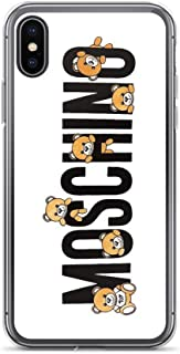 IPOCA Phone Cases for iPhone 11 Pure Clear Case Cover Cute Moschino Teddy Bear