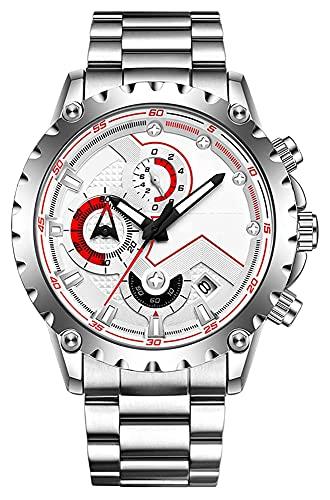 XHHDP NBSMN Relojes para Hombre, Correa Impermeable de Acero Inoxidable de la Correa de Cuarzo analógico de la muñeca de Las señoras de los Hombres del Negocio del Negocio del Negocio del Negocio.
