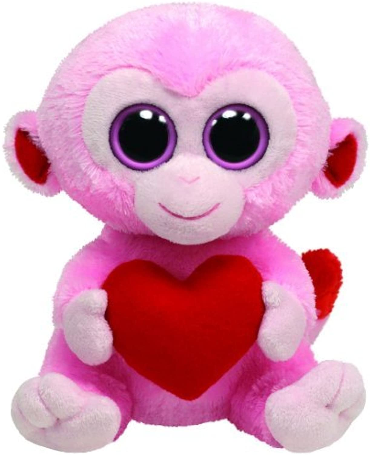 Ty Beanie Boos Julep Pink Monkey with Heart by Ty Beanie Boos
