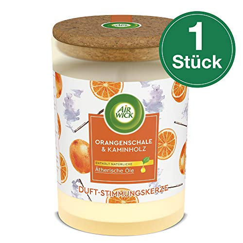 Airwick Duft-Stimmungskerze Orangenschale & Kaminholz, 1 Stück