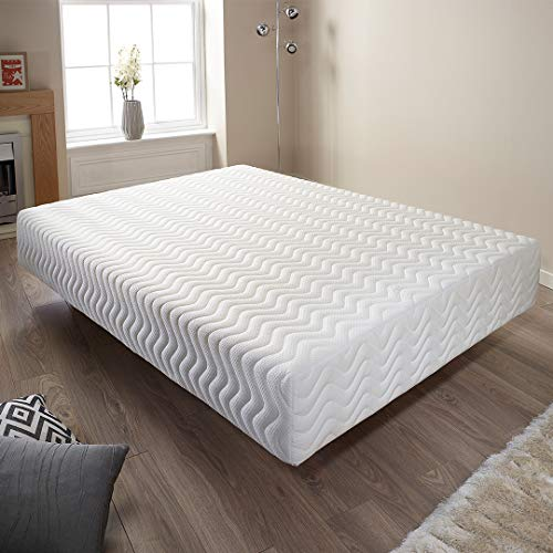 Aspire Beds Orthopaedic Memory Foam Mattress. Made in the UK. 5 Year Warranty. Anti-bacterial, Anti-allergy properties. Medium firm suitable for front, back & side sleepers. (UK King (150 x 200 cm))