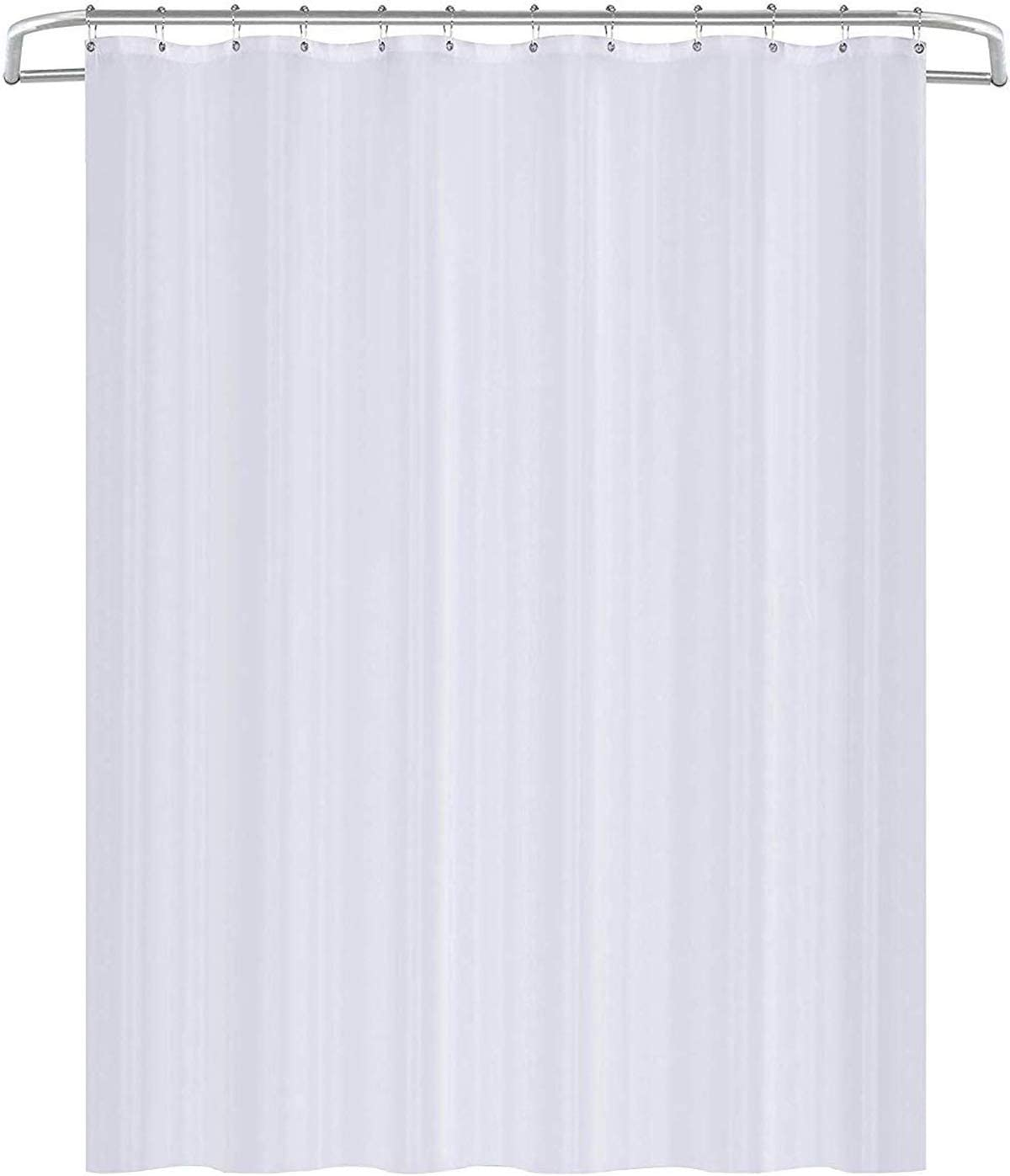 Utopia Home - Fabric Shower Curtain - Waterproof Bathroom Polyester Shower Stall and Bath Tub Curtain, Solid White 183 x 183 cm 183 cm x 183 cm (72 x 72 Inch)