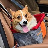 犬のカーシート、ペットアウトパッケージ、犬や猫デラックスポータブル旅行のカーキャリアバッグ、防水通気性のためのカーブースターシート