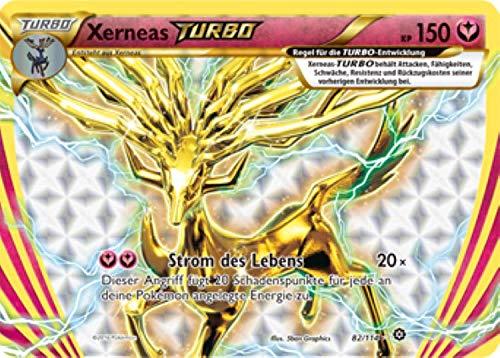 Xerneas Turbo 82/114 Pokémon XY Dampfkessel Sammelkarte - Deutsch - Cardicuno