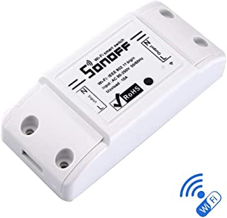 Sonoff WiFi Switch Wireless Remote Control Electrical for Household Appliances Compatible with Alexa DIY Your Home via Iphone Android App.