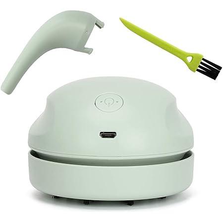 Brynnl Mini nettoyeur de bureau, aspirateur de bureau rechargeable USB Aspirateur sans fil portable Nettoyeur de poussière de bureau portable pour outil de nettoyage de clavier PC