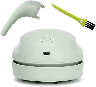 Brynnl Mini nettoyeur de bureau, aspirateur de bureau rechargeable USB Aspirateur sans fil portable Nettoyeur de poussière...