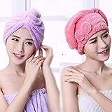 Uctop Store 2 Sets toalla turbante rápido secado absorbente de microfibra
