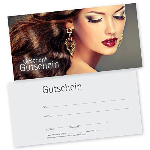 50 Kosmetikstudio-Friseur-Gutscheinkarten HAIR & BEAUTY Gutscheine, Geschenkgutscheine