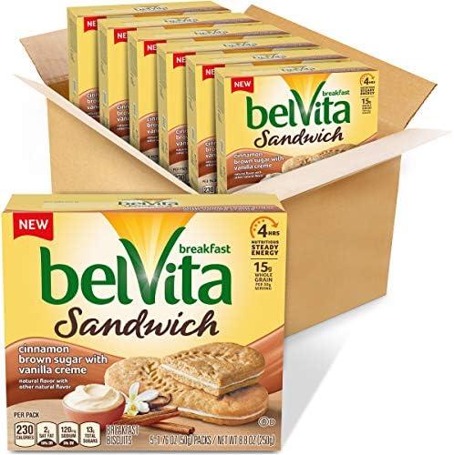 Belvita Breakfast Biscuit Sandwiches With Cinnamon Brown Sugar and Vanilla Creme Flavor vanilla product image