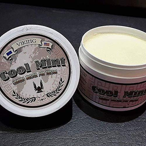 COOL MINT Tattoo Cream - Tattoo Butter ANTES Y DURANTE EL TATUAJE Efecto vegano para el...