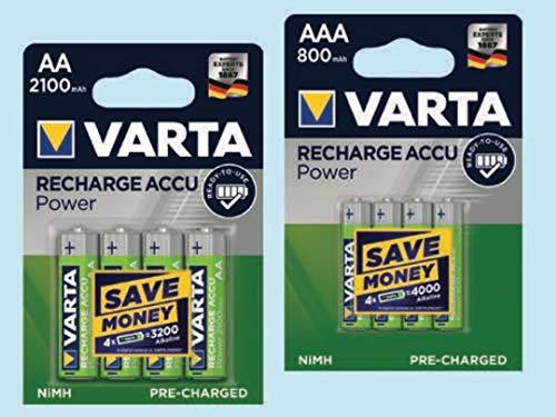 Varta Piles Rechargeables 56706 / HR6 / LR06-2100mAh - Blister de 4