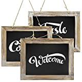 Greenco Decorative Vintage Style Wall Hanging Wooden Framed Chalkboards for Kitchens, Weddings, Parties, Restaurants-Set of 3, Wood