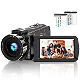 Videocamera digitale YouTube Vlogging registratore Full HD 1080P 30FPS 24.0 MP IR visione notturna...