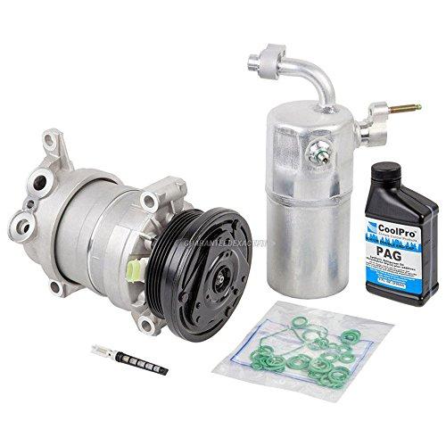 AC Compressor & A/C Repair Kit For Chevy Silverado GMC Sierra 1500 V8 1999 2000 2001 2002 Replaces Delphi HU6 - BuyAutoParts 60-80142RK New