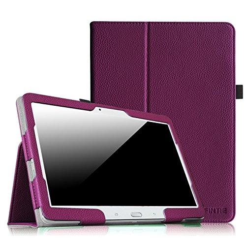 Fintie Hülle Hülle für Samsung Galaxy Tab 4 10.1 SM-T530 SM-T535 Tablet - Slim Fit Folio Kunstleder Schutzhülle Cover Tasche mit Auto Schlaf/Wach Funktion, Lila