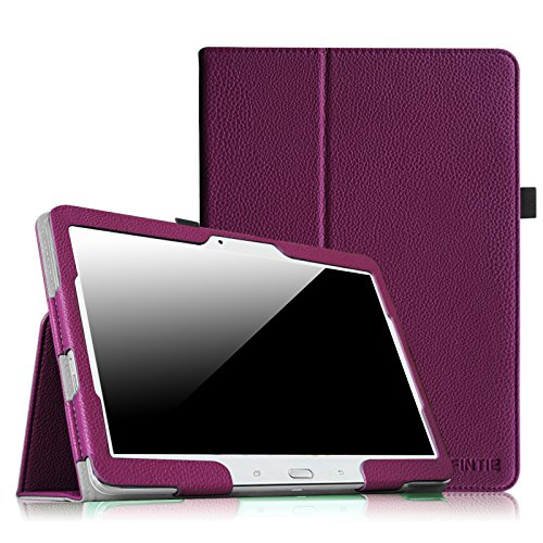 FINTIE Folio Case for Samsung Galaxy Tab 4 10.1 Inch Tablet (SM-T530 SM-T535) - Premium Vegan Leather Cover with Auto Sleep/Wake Feature, Purple