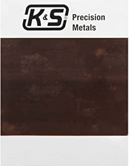 K/&S Precision Metals 6612 Copper Etching Plate 0.064 Thickness x 6 Width x 9 Length 14 Gauge Made in USA 1 pc