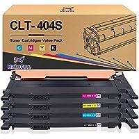 HaloFox 4x Cartuchos de tóner para Samsung Xpress CLT-P404C ( CLT-K404S CLT-C404S CLT-M404S CLT-Y404S ) SL-C430W SL-C480FN SL-C480FW SL-C480W SL-C432W SL-C433W SL-C482FW SL-C482W SL-C483FW SLC483W