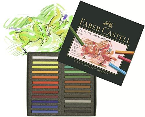 Faber-Castell 128524 – Estuche de cartón con 24 tizas pastel, multicolor