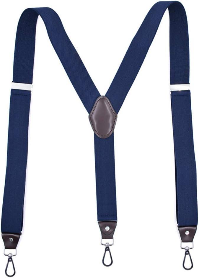 lzndeal Suspender,Hook Buckle Fashion Suspenders Stretchy Wide Elastic Men Pliers Women Braces