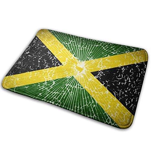 N\A Flags Jamaica with Texture Doormat Home Decoration Non-Slip Doormats Indoor/Outdoor/Front Door/Bathroom Entrance Mats Personalized Mat Floor Mat Rug