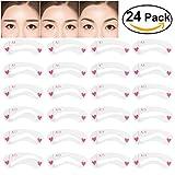 Frcolor 24pcs riutilizzabile sopracciglia Stencil Set diversi modelli forma sopra il sopracciglio Guida Guida Disegnare Card Brow Eye Eye Shaping Modello trucco strumento DIY
