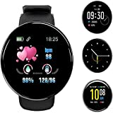 smartwatch orologio fitness tracker uomo donna, 1,3 pollici bluetooth smart watch cardiofrequenzimetro da polso schermo colori orologio sportivo calorie activity tracker,per android ios(nero)