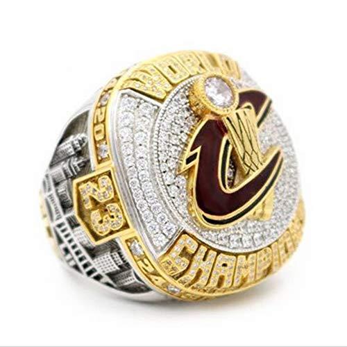 QiXian Collezione di Fan di Sport Champion Rings Fans Men's Memorial Rings Collezioni di Fascia Alta Fans Alloy Rings Accessori da Uomo Accessori Vintage, Due Toni