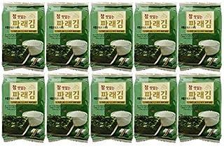 Korean Premium Roasted and Lightly Sea Salted Seasoned Seaweed & Nori Individual Snack 4g (10 Pack)