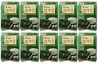 Korean Premium Roasted and Lightly Sea Salted Seasoned Seaweed & Nori Individual Snack 5g (Pack of 10)