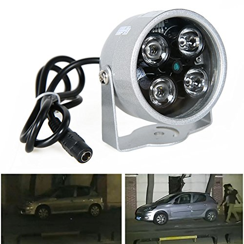Hikenn 4LED Überwachungskamera Infrarot-Nachtsicht IR-Licht Beleuchtungslampe 50M für IP CCTV-CCD-Kamera für Außenbereich