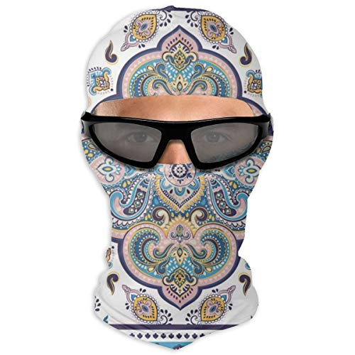 N/A Full Face Mask Indian Rug Tribal Ornament Pattern Hood Sunscreen Mask Dual Layer Cold For Men And Women