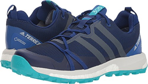 Adidas Outdoor Damen Terrex Agravic GTX Mystery Ink/Grey One/Hi-Res Aqua 8 B US