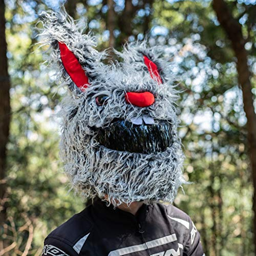 Moto Loot Helmet Cover for Motorcycle Helmet, Fun Rides and Gifts (Cover Only. Helmet Not Included) - Evil Rabbit