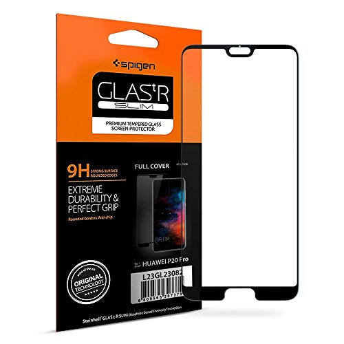 Spigen, Cristal Templado Compatible con Huawei P20 Pro, [Caso amistoso], 3D Cobertura Completa, Anti-Scratch, Cristal Vidrio Templado Premium para Huawei P20 Pro (L23GL23082)