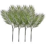 Aisamco 4 Piezas de arbusto de Hoja de Palma Tropical Artificial Planta Artificial con 3 Hojas de plástico Verde Planta de Palma Areca 68 cm de Alto para Acento de vegetación Tropical Arreglo Floral