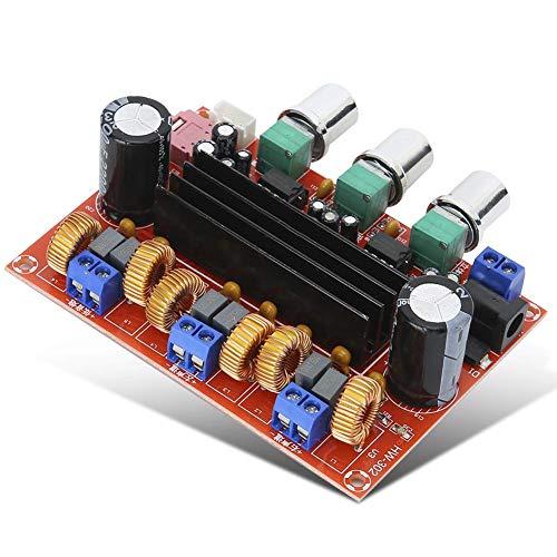 ASHATA-digitale versterkerplaat, XH-M139 2.1 Professioneel audiokanaal, digitale audio-versterkerplaat, TPA3116D2, 2 x 50 W + 100 W, 2.1 audiokanalen, audio-oversterker met drie audiokanalen.