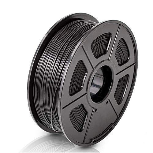 Colorfish 3D Drucker Filament PLA 1,75 mm - Schwarz (Maßgenauigkeit +/- 0,02 mm) Umweltfreundliches PLA 3D Filament für 3D Drucker und 3D Stift