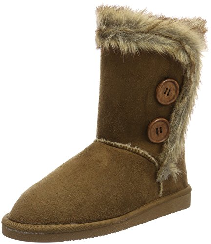 Canadians Damen Boots Schlupfstiefel, Braun (370 Tobacco), 38