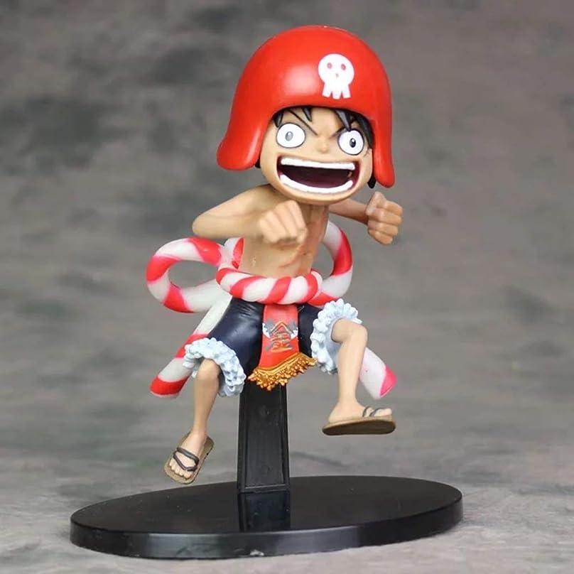 トラクター唯物論含むアニメワンピースモデル、PVC子供のおもちゃコレクション像、デスクトップ装飾玩具像玩具モデル、赤い帽子ルフィ(20cm) JSFQ