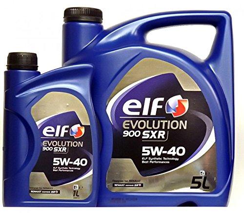 Aceite Motor Elf Evolution 900 SXR 5W40 - 6 litros (1x5 L + 1x1 L) -- Oferta Multiproducto